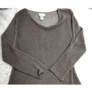 Soft Surroundings Taupe Knit Cowl Neck Sweater